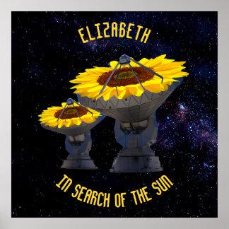 Sunflowers As Radio Telescope Antenna Follow Sun Poster