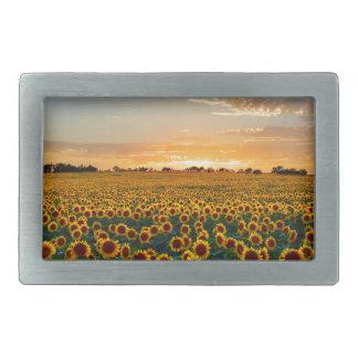 Sunflowers at Sunset Rectangular Belt Buckle