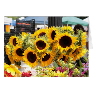 Sunflowers at the Farmers Market Card