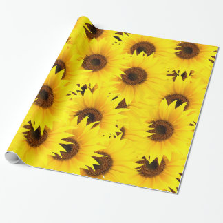 Sunflowers background wrapping paper