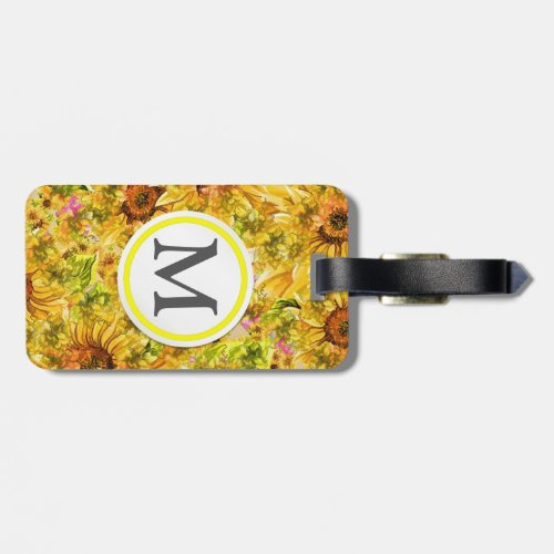 Sunflowers Bag Tag