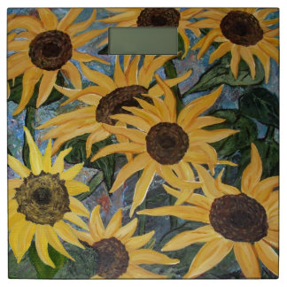 sunflowers bathroom scale