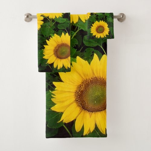 Sunflowers Bathroom Towel Set