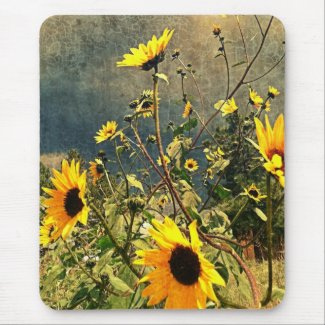 Sunflowers Before The Storm Clouds Mouse Pad