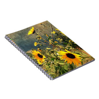 Sunflowers Before The Storm Clouds Notebook