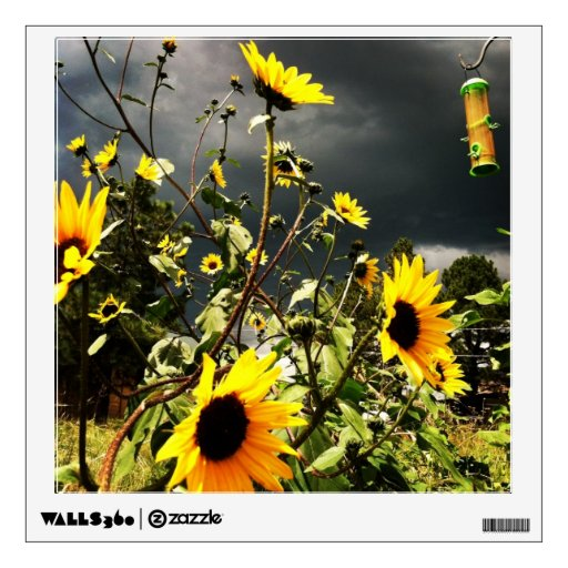 Sunflowers Before The Storm Clouds Photograph Wall Skin