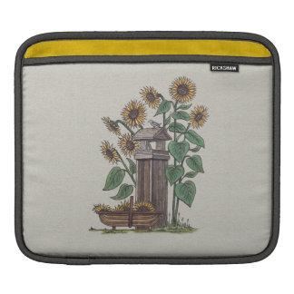 Sunflowers Birdfeeder & Blue Bird iPad Sleeves