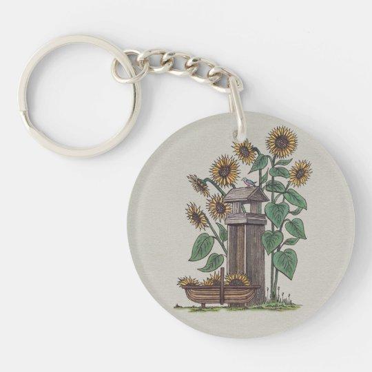 Sunflowers Birdfeeder & Blue Bird Keychain