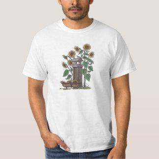 Sunflowers Birdfeeder & Blue Bird T-Shirt