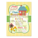Sunflowers & Birdhouse Housewarming Party Card