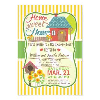 Sunflowers & Birdhouse Housewarming Party 5x7 Paper Invitation Card