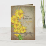 "Sunflowers - Birthday - Daughter Card<br><div class=""desc"">Perfect greeting card for the gal who loves flowers,  especially daisies and sunflowers.  Lots of sunshine go with this card.  See other cards in