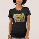 Sunflowers Black Tee