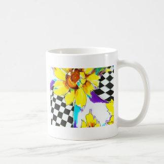 Sunflowers & Black with White Coffee Mug