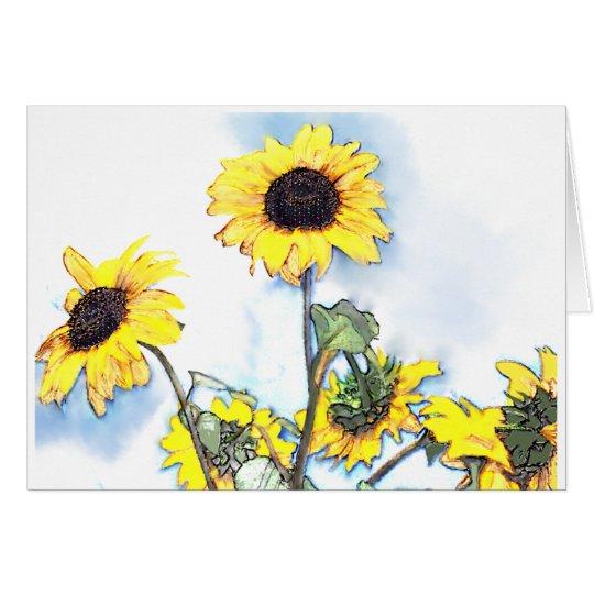 Sunflowers Blank Greeting Card