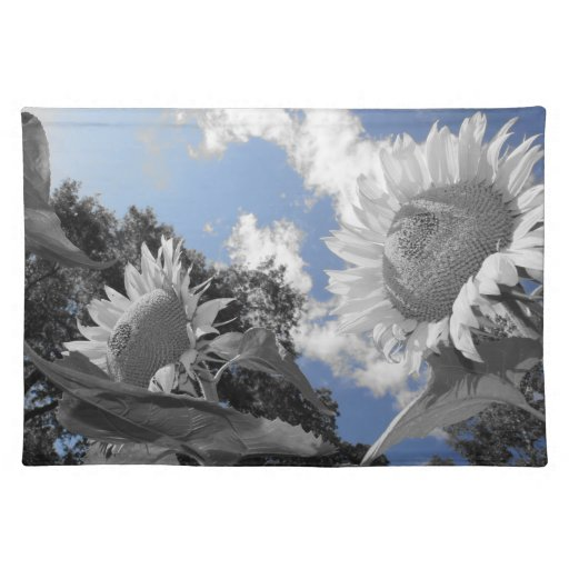 Sunflowers Blues Cloth Placemat