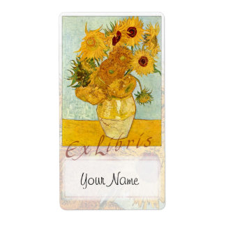 "Sunflowers Book Plate ""Ex Libris"" - Updated Label"