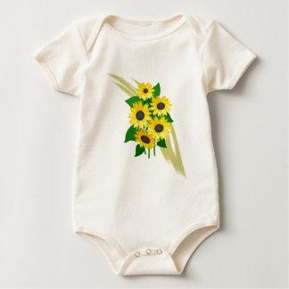 Sunflowers Bouquet Baby Bodysuit