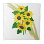 Sunflowers Bouquet Ceramic Tiles
