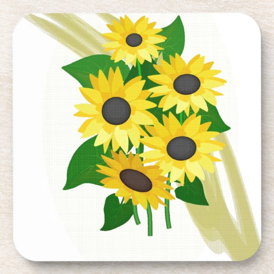 Sunflowers Bouquet Coaster