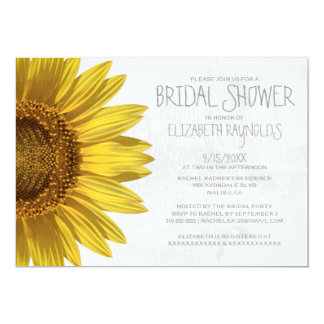 Sunflowers Bridal Shower Invitations