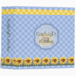Sunflowers Bright Personalized Kitchen 3 Ring Binders