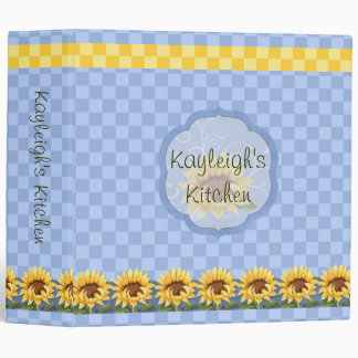 Sunflowers Bright Personalized Kitchen Binder