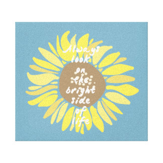 Sunflowers Bright Side Canvas Print