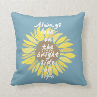 Sunflowers Bright Side Throw Pillows