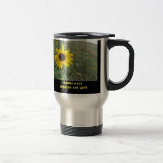 Sunflowers brighten any day travel mug!