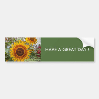 sunflowers bumper stickers