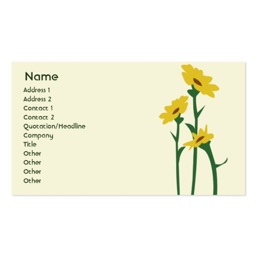 Sunflowers - Business Double-Sided Standard Business Cards (Pack Of 100)