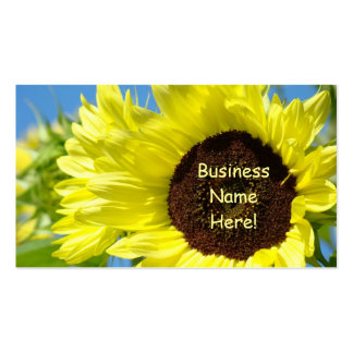 Sunflowers Business Cards Yellow Blue Cards
