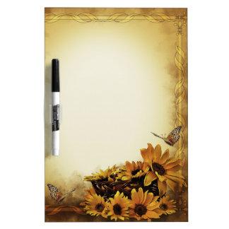 Sunflowers & Butterflies Dry-Erase Board
