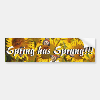 Sunflowers Butterfly Flowers Floral Bumper Sticker