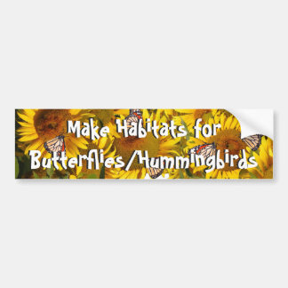 Sunflowers Butterfly Habitat Garden Bumper Sticker