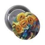 Sunflowers Button
