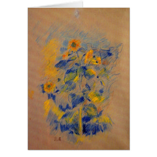 Sunflowers by Berthe Morisot Greeting Cards