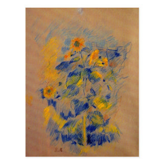 Sunflowers by Berthe Morisot Post Cards
