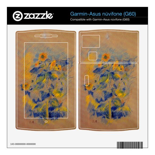 Sunflowers by Berthe Morisot Garmin Asus Nuvifone Skins