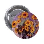Sunflowers by Claude Monet 2 Inch Round Button