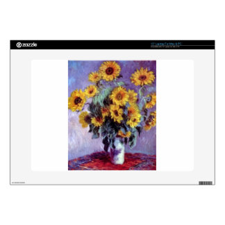 Sunflowers by Claude Monet Decal For Laptop