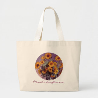 Sunflowers by Claude Monet Large Tote Bag