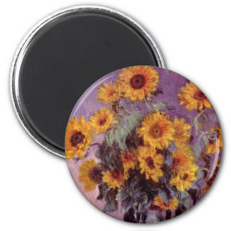 Sunflowers by Claude Monet Magnet