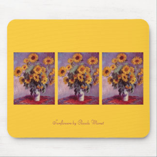 Sunflowers by Claude Monet Mouse Pad