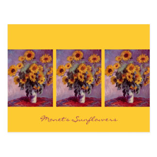 Sunflowers by Claude Monet Postcard
