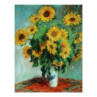 Sunflowers by Claude Monet Print