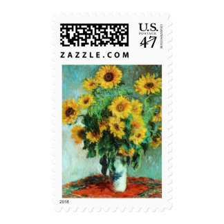 Sunflowers by Claude Monet Stamps