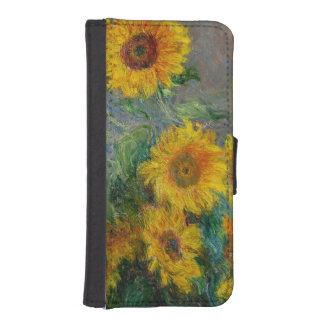 Sunflowers by Claude Monet Wallet Phone Case For iPhone SE/5/5s