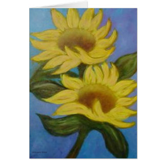 Sunflowers by Laurie Mitchell Card